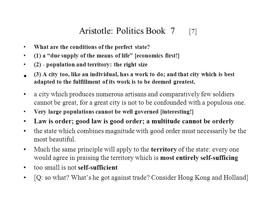 Aristotle: Politics Book 7 [7]